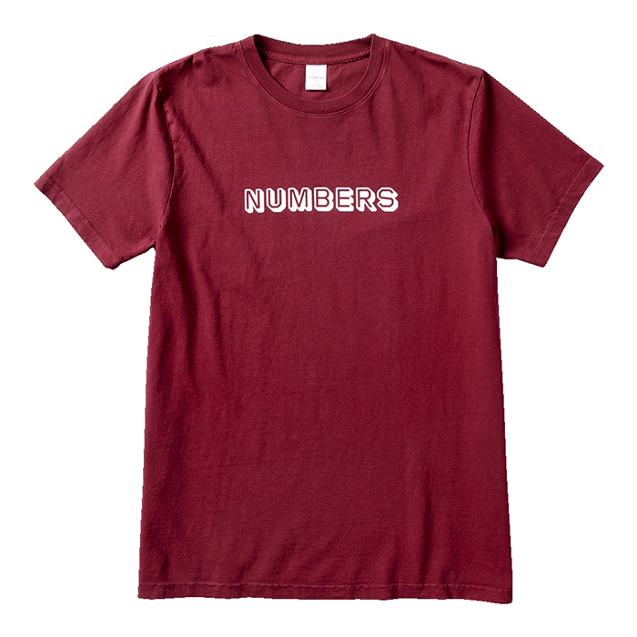 Numbers-SS Tee-Burgundy-Front_w